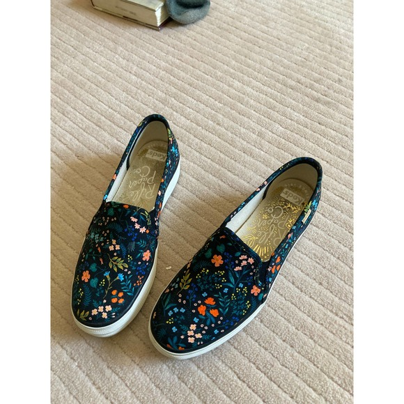 Keds x Rifle Paper Co Canvas Slip on Shoes 6.5